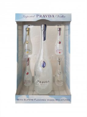 Pravda Vodka 4x0,05l + 0,7l 40% GB