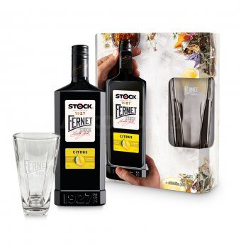 Fernet Stock Citrus 0,5l 27% + 1x sklo GB