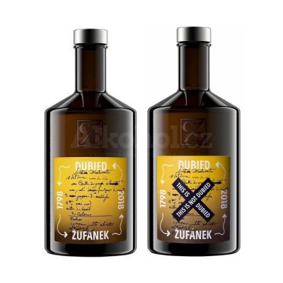 Aukce Absinthe Žufánek Dubied & This is not Dubied 2×0,5l 70%