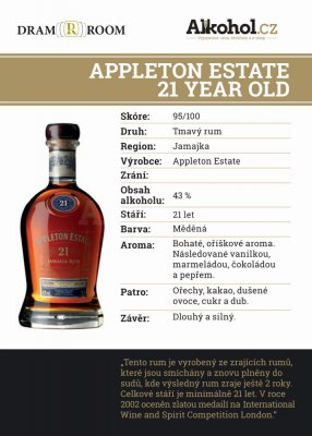 Appleton Estate 21y 0,04l 43%