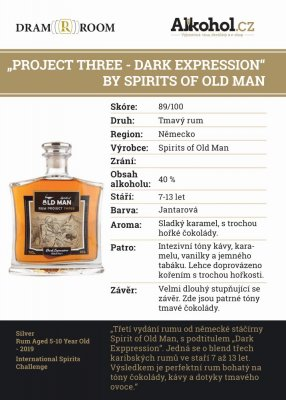 Project Three - Dark Expression By Spirits of Old Man 0,04l 40%