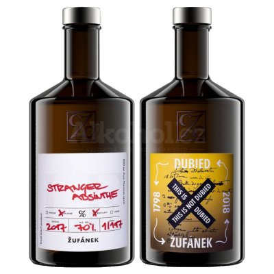 Aukce Žufánek Stranger Absinthe & This is not Dubied 2×0,5l 70%