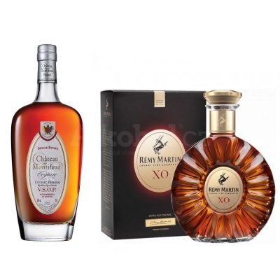 Aukce Chateau Montifaud VSOP & Rémy Martin X.O. Excellence 2×0,7l 40%