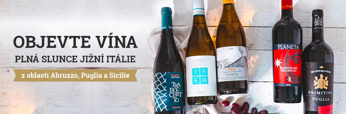 Vína z jížní Itálie