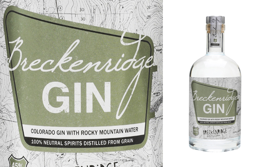 Breckenridge Gin z Breckenridge Distillery v USA
