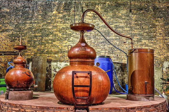 Pot still destilační přístroj pro výrobu rumu